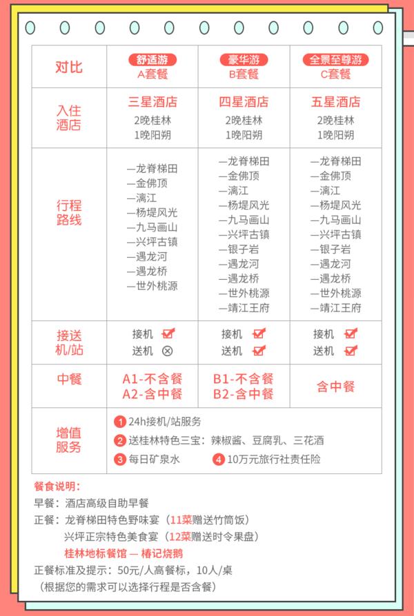 桂林-漓江+阳朔+龙脊4天3晚跟团游