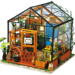 若态 DIY手工模型小屋凯西花房 *2件