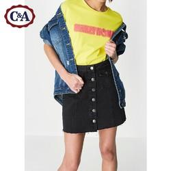 C&A CA200204576 女式Smiley荧光色喷印刺绣上衣