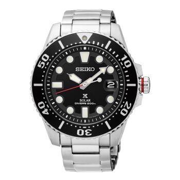 SEIKO 精工 PROSPEX系列 SNE437J1 男士潜水手表 41-43mm 不锈钢 黑色 圆盘