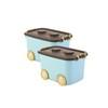 当当优品 2个装带滑轮塑料整理箱 车型儿童玩具整理箱 50L 蓝色 78元