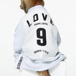 Studio Concrete韩国进口数字心情中性款情侣卫衣男女同款9/LOVE