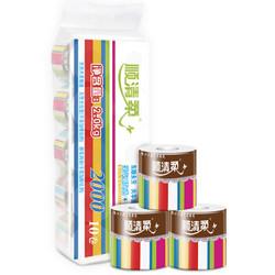 顺清柔 卫生纸 彩虹4层200g有芯卷纸*10卷 *5件