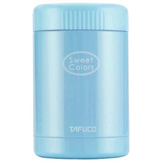 泰福高(TAFUCO)保温饭盒 不锈钢保温粥桶焖烧杯便当盒 附赠包T-2061天蓝色400ML *3件