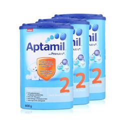 Aptamil 德国爱他美 婴儿奶粉 2段 800克/罐 3罐 新老包装随机发货