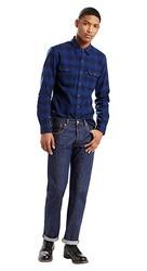 LEVI'S 李维斯 男士直筒水洗纽扣门襟设计牛仔裤 00501-0115 水洗深蓝色