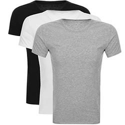 Tommy Hilfiger 汤米·希尔费格 男士圆领T恤三件装