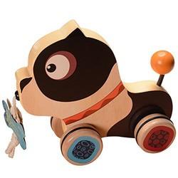 B.Toys 比乐 BX1392Z 木制小狗拖拉玩具 *3件
