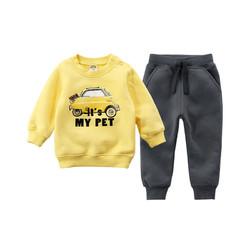 12色可选|minizone秋冬男女儿童小童休闲居家外出保暖卫衣裤套装1-8岁