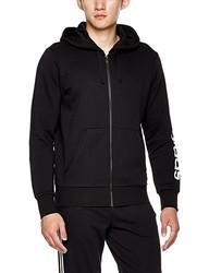 adidas 阿迪达斯 男式 运动型格 针织夹克 BR4058 黑/白 ESS LIN FZHOODB