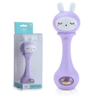 贝恩施(beiens)婴幼儿声光手摇铃 新生儿童益智玩具YZ02 丁香紫 *3件