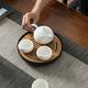 洛威 陶瓷茶盘 8寸 黑陶/青瓷可选 19元包邮(需用券)