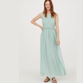 H&M HM0617245 女士雪纺连衣长裙