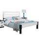 木巴 C301+2CTG050 简约现代实木双人床+床头柜*2 白色 1.5米
