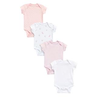 next 童装 新生儿短袖连体衣 四件装