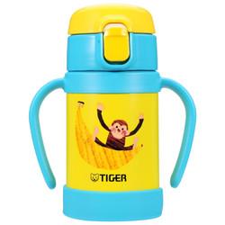 TIGER 虎牌 MCK-A28C 婴幼儿童保温杯 吸管真空304不锈钢水杯 保冷杯 280ml 小猴子(蓝)+凑单品