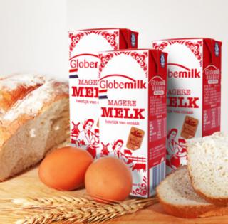 Globemilk 荷高 脱脂牛奶高钙奶 200ml*12盒