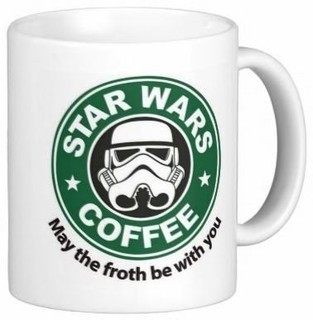 STARBUCKS 星巴克 X 星战 咖啡马克杯 11盎司 May the froth be with you