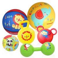 费雪(Fisher Price)宝宝健身球 儿童玩具球套装(六球混装 赠打气筒)F0917 *2件