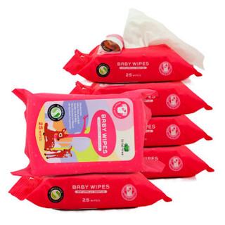 英国小树苗 婴幼儿童天然柔湿巾 宝宝屁屁湿纸巾 25抽*6包 *4件