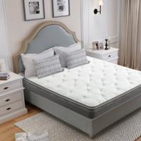喜临门床垫24cm 四重防螨乳胶黄麻软硬两用弹簧床垫 简约现代卧室家居 光年PLUS