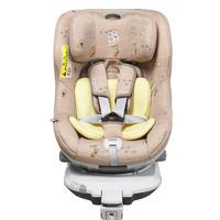 Babyfirst 汽车儿童安全座椅0-4岁360度旋转ISOFIX企鹅萌军团狐狸黄