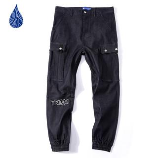 蓝布屋 700CLX 男士宽松束脚九分工装裤