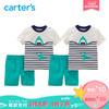 618预售:Carter's新款套装鲨鱼印花上衣T恤短裤全棉男宝婴幼儿童装229G742 89元