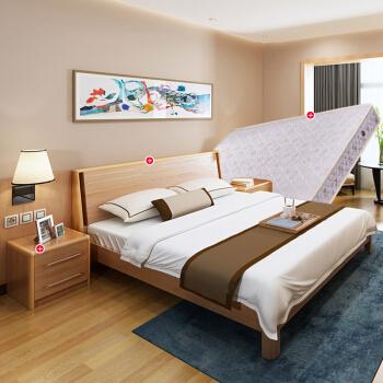 A家家具 实木框双人床
