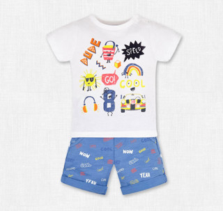11号0点:mothercare 男童 T恤短裤两件套 *3件