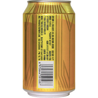 PEARL RIVER 珠江啤酒 金麦穗 啤酒 330ml*24听 整箱装
