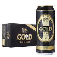 德博金色经典拉格啤酒500ml*24听整箱装 德国进口 *2件