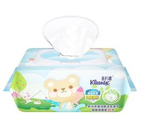 Kleenex 舒洁 卡通洁肤卫生湿巾 80片(带盖) *4件