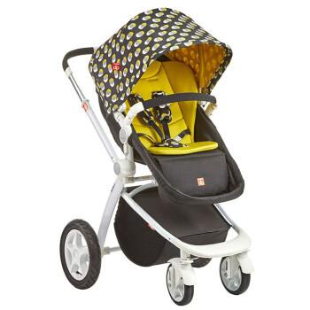限地区:gb 好孩子 GB08-W-Q228BG 欧洲豪华高景观婴儿推车 黑绿