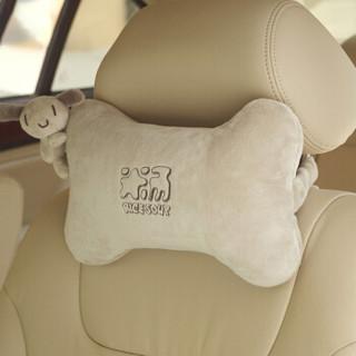 爱车屋汽车头枕T-103D中空棉颈枕卡通汽车靠枕浅灰色