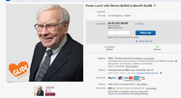 巴菲特慈善午餐 Power Lunch with Warren Buffett