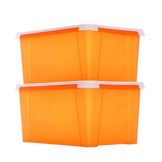 JEKO&JEKO 捷扣捷扣 SWB-5358 塑料储物收纳箱 40L 橙色 2只装
