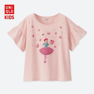 童装/女童  LADUREE印花T恤 408431 优衣库UNIQLO