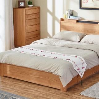 618预售、历史低价 : 维莎 w0616 日式实木储物床 升级全高箱版 1.5米