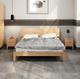 美天乐 北欧日式实木床(1.8米*2) 双12仅需1199元
