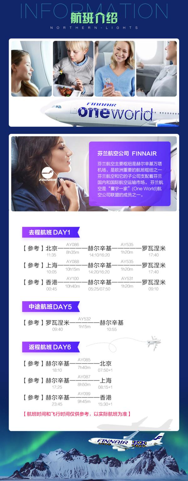 北京/上海-芬兰7天5晚自由行