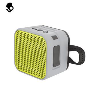 骷髅头(Skullcandy)BARRICADE MINI 迷你版便携式蓝牙防水小音箱 音响 灰黄色 *2件