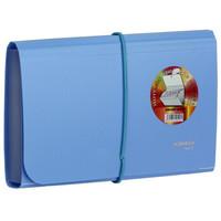 金得利(KINARY) F4403 欢乐色风琴包票据包 蓝色
