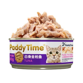 paddy time 最宠 白肉猫罐头 金枪鱼口味 80g*24罐 *2件