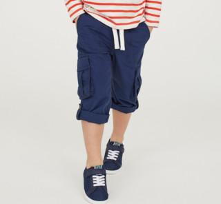 H&M 童装 棉府绸工装长裤