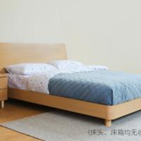 样子生活 简配木色床 无床箱 1.5m