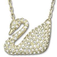 SWAROVSKI 施华洛世奇 5063921 水晶项链 金色天鹅