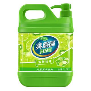 亮晶晶 清新果萃洗洁精清爽温和去油污不伤手  1.2kg*1瓶 *3件