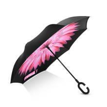 18点开始 : Hommy 双层反向反骨超强防雨防晒免持式长柄直柄伞 收纳便捷 雏菊