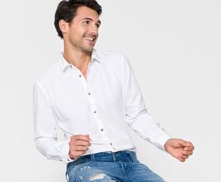 ESPRIT EDC系列 087CC2F009 男士长袖衬衫